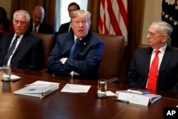 Reks Tillerson, Donald Tramp, Cim Mattis