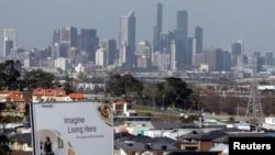 澳大利亚墨尔本市区远眺 (资料照片)