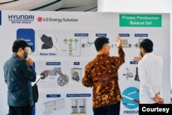 Pembangunan Pabrik Baterai untuk kendaraan listrik ini merupakan bagian dari MoU dengan berbagai Perusahaan besar di Korea Selatan. (Setpres RI)
