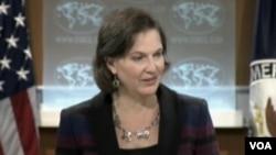 美國務院發言人努蘭(美國之音視頻截圖)