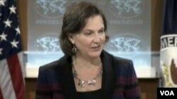 美国务院发言人努兰(美国之音视频截图)