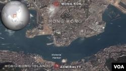 Mong Kok and Admiralty districts of Hong Kong