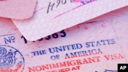 Visto americano num passaporte