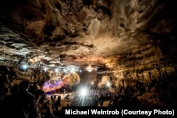 Under the limestone bedrock of middle Tennessee, you'll find some of North America's most extensive cave systems and one of the world's most unusual performance spaces.