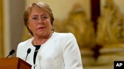 La presidenta chilena Michelle Bachelet afirmó que no planea renunciar y que seguirá en sus esfuerzos para mejorar el país.