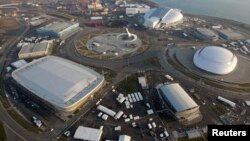 Bức ảnh chụp toàn cảnh khu sân vận động Olympic mùa đông ở Sochi, Nga