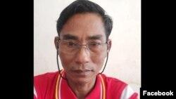 ဦးသန္းလြင္ NLD ဥကၠဌ နယ္စပ္ ဘုရားသုံးဆူၿမဳိ႕ (ဓါတ္ပုံ - ဦးသန္းလြင္ facebook )