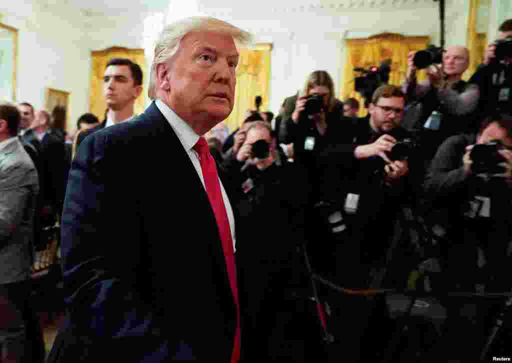 پرزیدنت ترامپ در این مراسم گفت بخش شرقی اورشلیم پایتخت فلسطینیها خواهد شد.