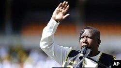 """Julius Malema, leader des """"Combattants pour la liberté économique"""" (EFF)"""