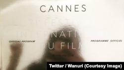 La jeune réalisatrice Wanuri Kahiu affiche l'annonce de la présentation de son film Raifiki à Cannes, 8 mai 2018. (Twitter/Wanuri)
