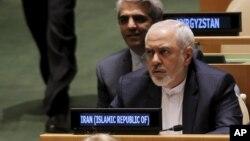 Le Ministre des Affaires étrangères de l'Iran Mohammad Javad Zarif lors de la session extraordinaire de l'Assemblée générale des Nations Unies sur le problème mondial de la drogue, au siège de l'Onu à New York, aux États-Unis, le 21 avril 2016. (REUTERS / Brendan McDermid)