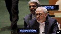 지난 21일 미국 뉴욕의 유엔 본부에서 열린 유엔 총회에 참석한 무하마드 자바드 자리프 이란 외무장관. (자료사진)