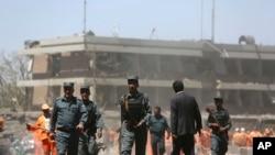 بم دھماکے کے بعد کا ایک منظر