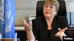 Foto de archivo de la Alta Comisionada de las Naciones Unidas para los Derechos Humanos, Michelle Bachelet.