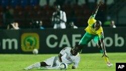 Le Sénégal face à l'Afrique du Sud, lors de la CAN 2015, à Mongomo, en Guinée Équatoriale.