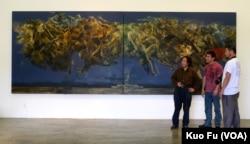 中国地下画家莫的天安门画作