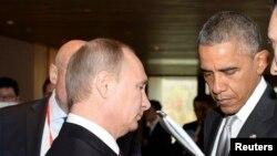 奧巴馬總統和普京進行了交談