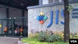 "Suasana di luar gedung ""Jakarta International School"" (Foto: dok)."