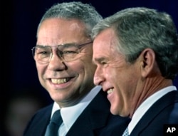 VaGeorge Bush naGen. Colin Powell