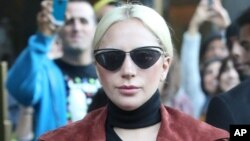 Lady Gaga is seen in New York City.