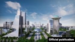 """Tashkent City"" maketi"