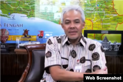 Gubernur Jawa Tengah, Ganjar Pranowo. (Foto: screenshot)