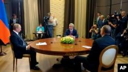 Vladimir Putin, Serge Sargsyan, Ilham Aliev,