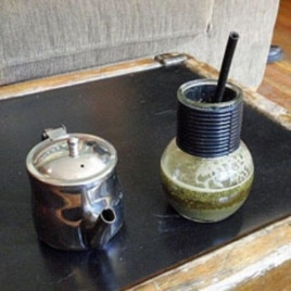 Mate is traditionally served in a gourd, but the North American version often comes in a glass jar.