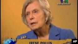 ທ່ານນາງ ໄອຣີນ ໂພລລິນ (Irene Pollin) ທີ່ຈັດຕັ້ງອົງການ ເວົ້າສູ່ເອື້ອຍສູ່ນ້ອງຟັງ ຫລື Sister to Sister ເພື່ອໃຫ້ການສຶກສາແກ່ແມ່ຍິງ ກ່ຽວກັບ ພະຍາດຫົວໃຈ