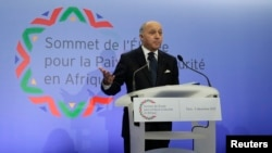 FILE - French Foreign Affairs Minister Laurent Fabius attends a news conference in Paris.