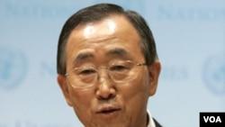 Sekretaris Jenderal PBB Ban Ki-moon mengaku cemas dan terkejut dengan tindakan pasukan keamanan Libya.