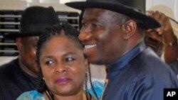 Patience Jonathan da mijinta Shugaba Goodluck Jonathan