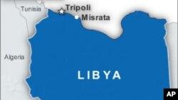 Letak kota Misrata di Libya.