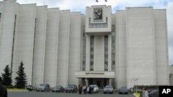 莫爾多維亞政府行政辦公大樓,大樓舊址曾是薩蘭斯克監獄