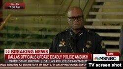 David Brown, chef de la police de Dallas, Texas.