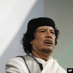 Le leader libyen Mouammar Kadhafi
