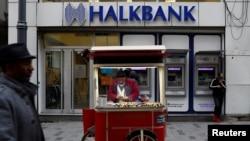 یک شعبه هالکبانک در شهر استانبول، ترکیه.