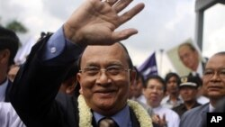지난 1일 미국 방문을 마치고 귀국한 테인 세인 버마 대통령. (자료사진)