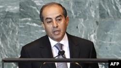 Thủ tướng lâm thời của Libya Mahmoud Jibril phát biểu trước Ðại hội đồng Liên hiệp quốc ở New York