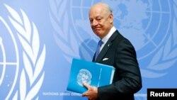 Staffan de Mistura, le médiateur de l'ONU pour la Syrie, à Genève le 14 mars 2016. (Reuters/ Ruben Sprich)