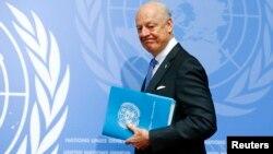 Staffan de Mistura, le médiateur de l'ONU pour la Syrie, à Genève le 14 mars 2016. (REUTERS/Ruben Sprich)