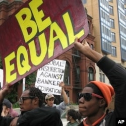 Protesters from the Occupy DC movement held a usual street rally, but are now also holding classes in political activism.