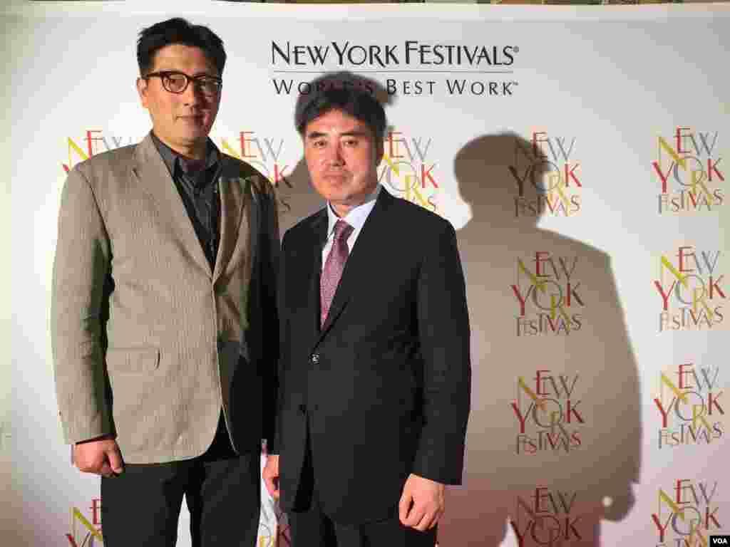 来自韩国的纪录片导演以关心自闭儿的影片得奬(美国之音樊冬宁拍摄)