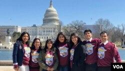 Các 'Dreamers' đến Quốc hội Mỹ ở Washington DC