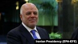 Iraqi Prime Minister Haidar al-Abadi in Tehran, Octobe 26, 2017