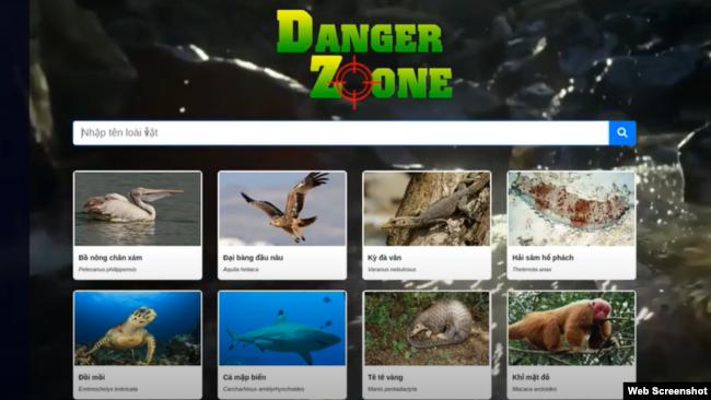 Trang web tải ứng dụng Danger Zoone của Nhóm Zootopia. Photo YouTube Piketr.