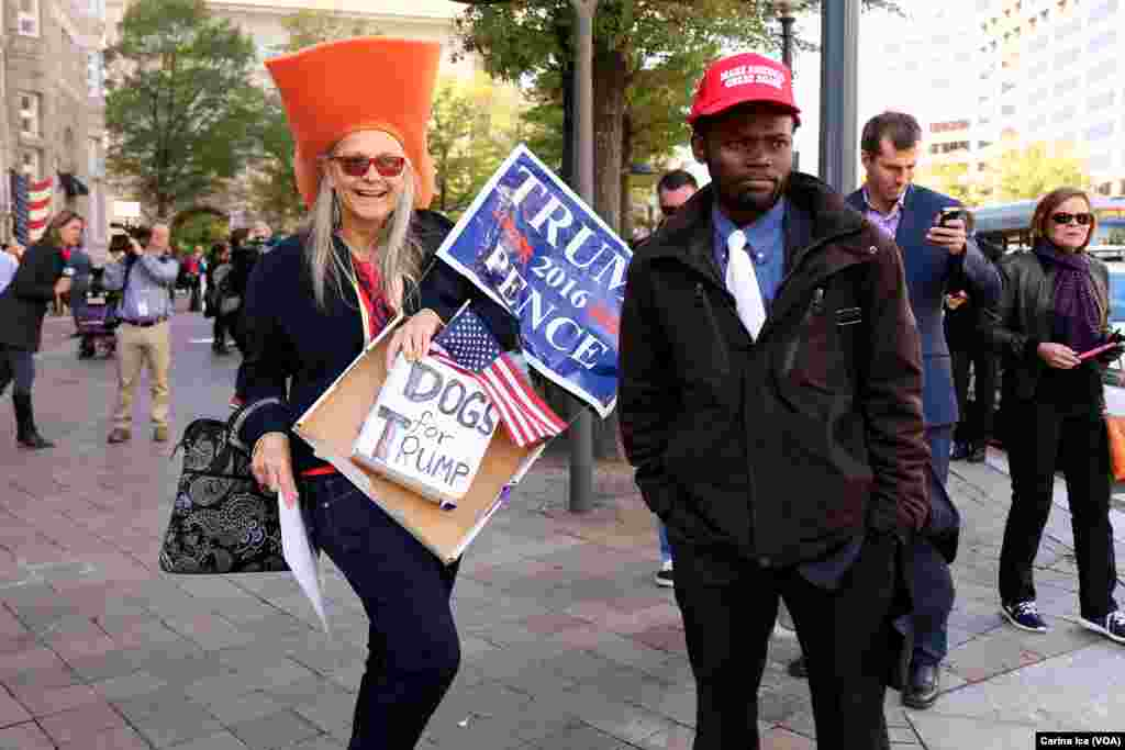 Hundreds protested Donald Trump at the opening of the International Trump Hotel at the Old U.S. Post Office Building in Washington, D.C. Trump was in town for the ribbon-cutting for the luxury hotel, less than two weeks before election day. October 26, 20