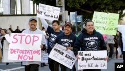 美國被懷疑非法居留美國的人反對海關執法