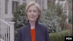 希拉里-克林頓宣佈正式參加2016年總統競選 (視頻截圖)