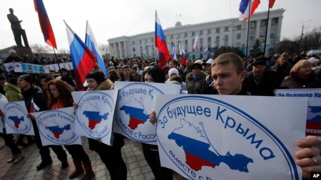 Симферополь, Крым, 9 марта 2014г.